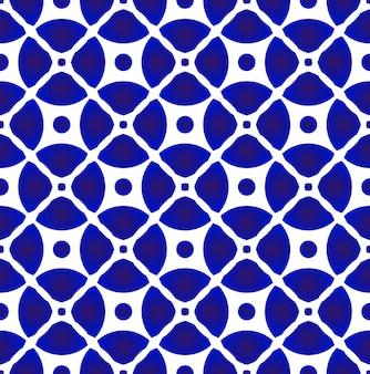 抽象的な磁器パターンの和と中華風、モダンなセラミックのシームレスな装飾