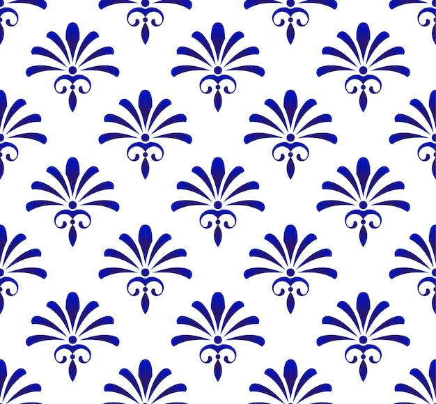 花飾り背景ダマスク織スタイル