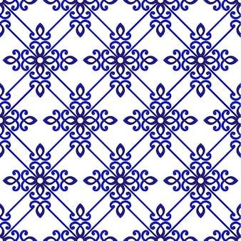 装飾的な花のパターンの背景