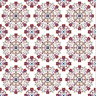 カラフルなパッチワークとヴィンテージのセラミックタイルのシームレスパターン