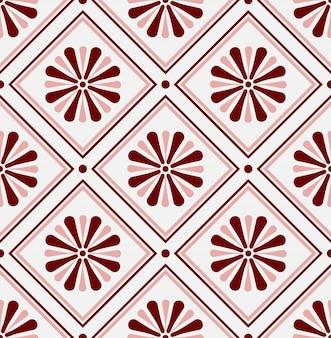 メキシコのタラベラ、セラミックタイルパターン、イタラン陶器の装飾、ポルトガルのアズレージョシームレスなデザイン、カラフルなスペインのマジョリカ飾り