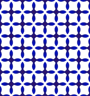抽象的なモダンパターン青と白
