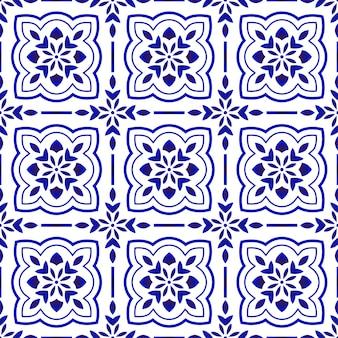 花柄タイルパターン