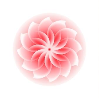 ピンクの花のアイコン