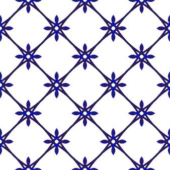 Симпатичный фарфоровый узор, синий и белый