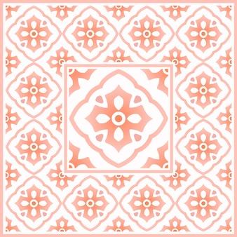 メキシコのタラベラ、ビンテージタイルパターン、カラフルなモロッコモチーフ、