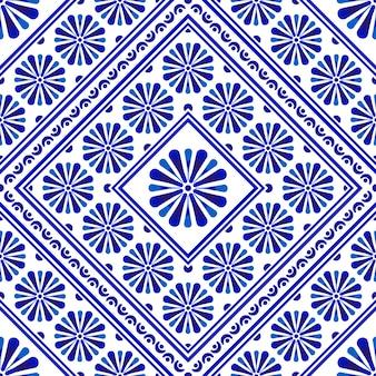 装飾的な花のタイルパターン