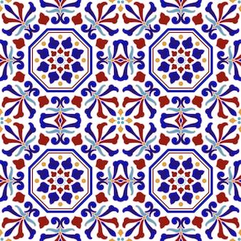 Разноцветный керамический узор