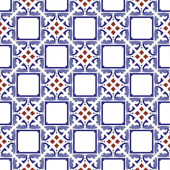 ビンテージタイルのシームレスパターン