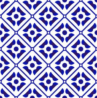 Симпатичный синий узор