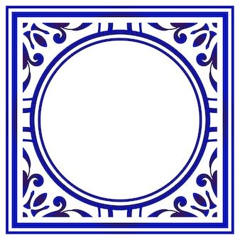 Арт круглая рамка