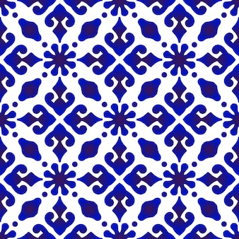 バティックブルーパターン