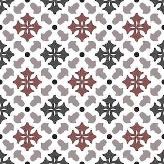 ビンテージタイルパターンベクトル