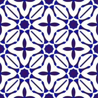 インディゴのシームレスパターン