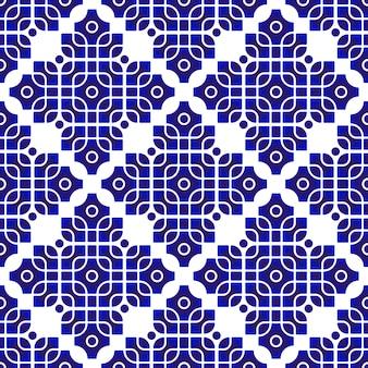 モダンなパターンの青と白