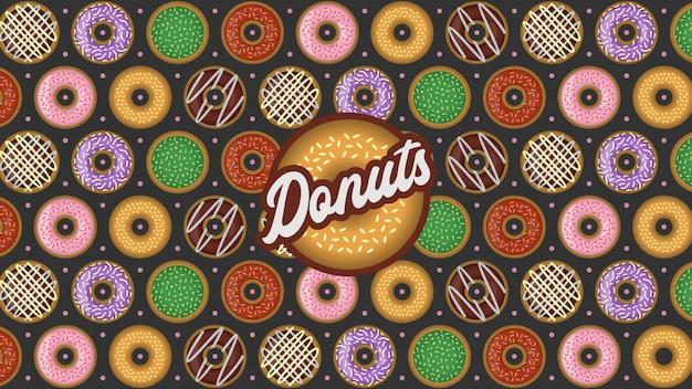 ドーナツのシームレスパターン