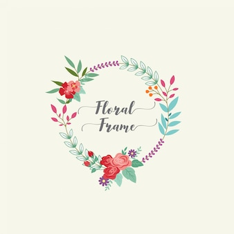 Прекрасная цветочная рамка
