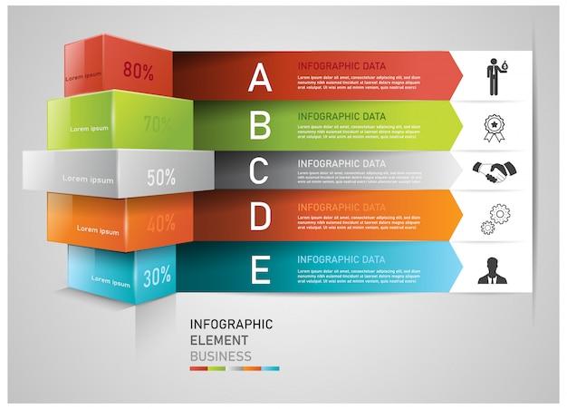 インフォグラフィックの抽象的な現代ビジネスタグコンセプト。