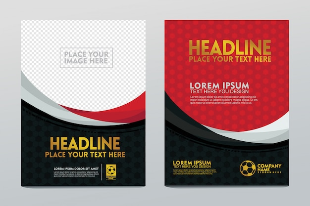 Креативная концепция искусства, футбольный плакат шаблон, изолированных на прозрачной.