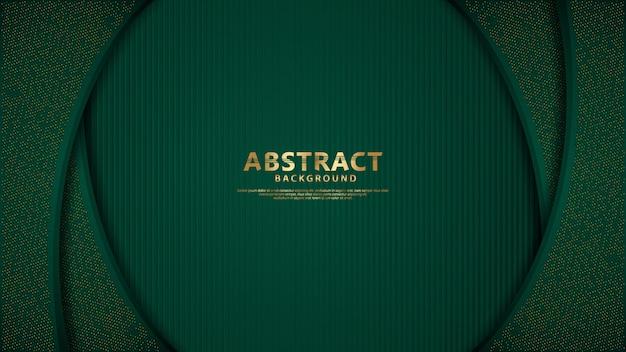 Темно-зеленые слои наложения фона с блестит золотой эффект.