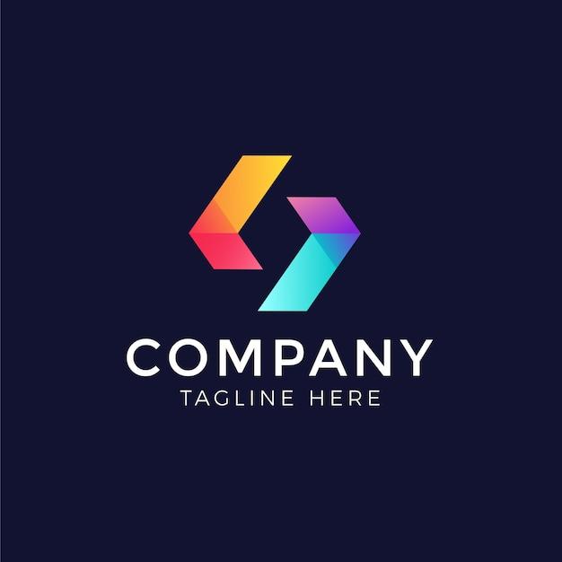 抽象的なロゴデザインベクトル無料