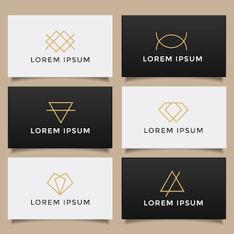 ミニマルなシンプルなクリエイティブなロゴコレクションのセットです。