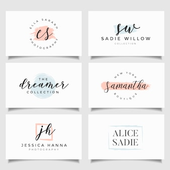Коллекция шаблонов логотипов. минималистские логотипы. готовый дизайн логотипа