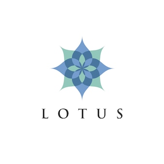 エコ、美容、スパ、ヨガ、医療会社のための蓮の蓮の花ロゴデザインテンプレート。