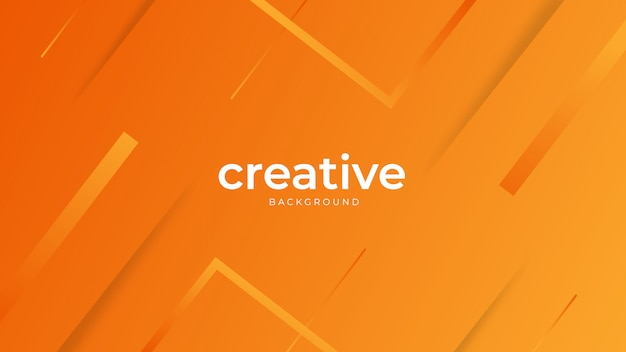 Минимальный геометрический оранжевый фон