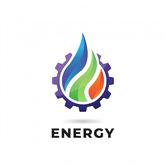 Вода, огонь, земля. природа логотип или логотип
