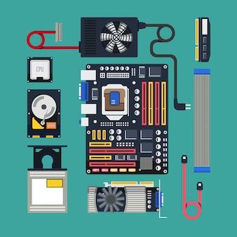 Оборудование в плоском дизайне