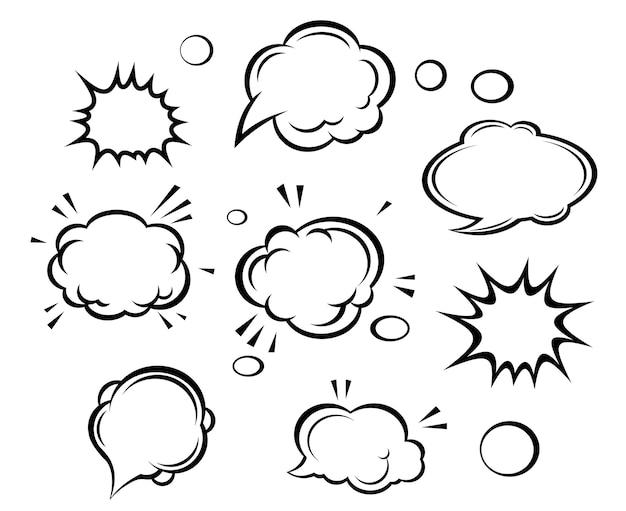 漫画の雲と泡