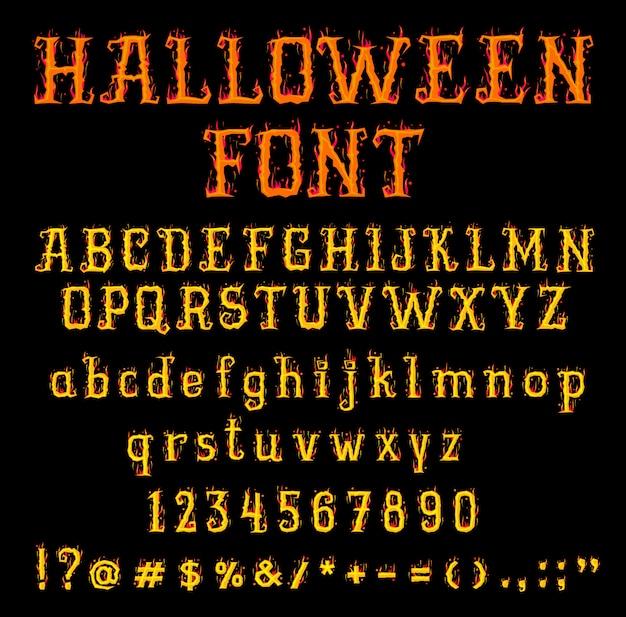 Огненный хэллоуин шрифт или тип