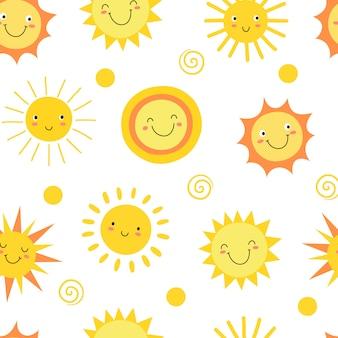 太陽のシームレスパターン