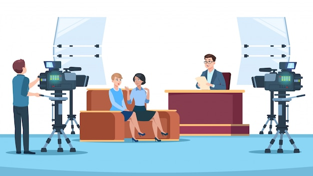 Телестудия интервью