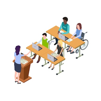 障害を持つ人々のための手頃な価格の教育イラスト