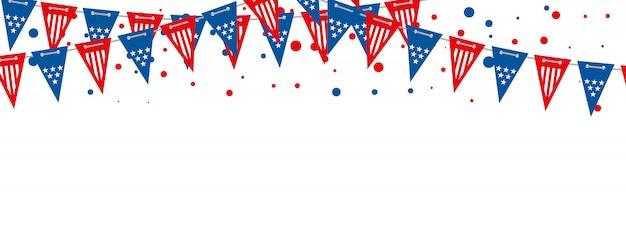アメリカの国旗ベクターバナー。