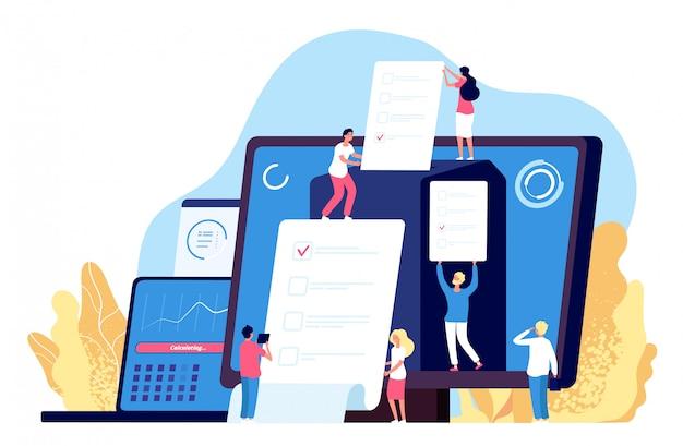 Онлайн голосование. люди голосуют с помощью правительственных электронных компьютерных систем, фона для регистрации выборов в интернете.