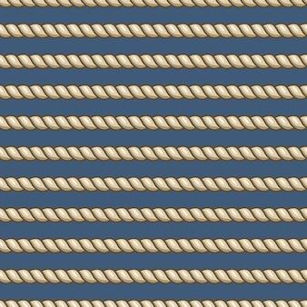 Морские канаты с узлами бесшовные модели