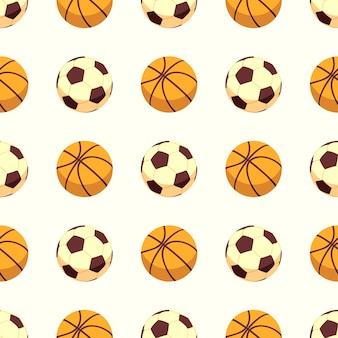 Спортивный бесшовный узор