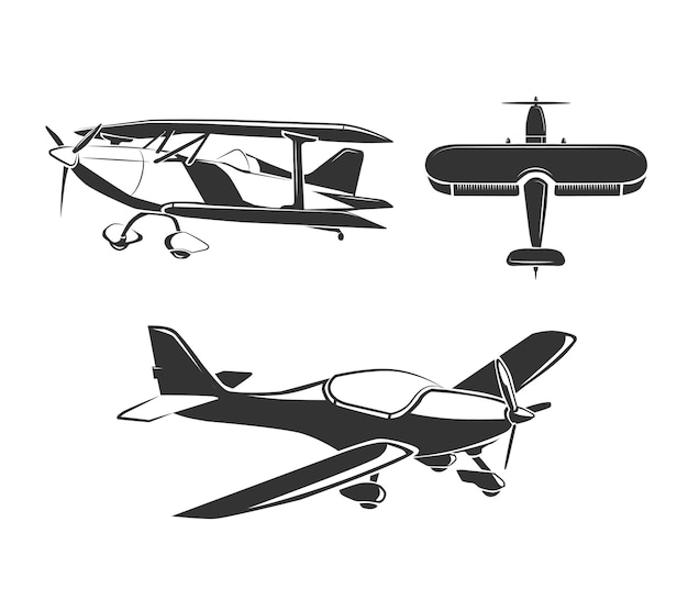 Векторные элементы для эмблем самолета