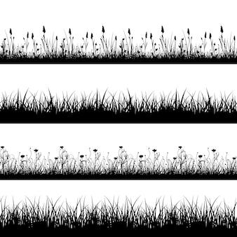 Бесшовные дикие травы