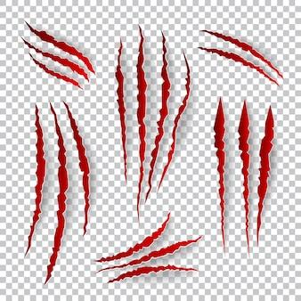 現実的な爪の傷。
