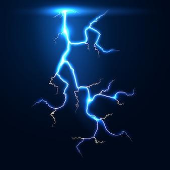 稲妻雷雨ベクトルの背景