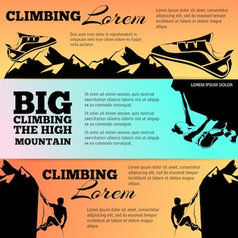 黒いシルエットで登るバナーコレクション