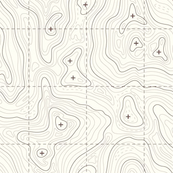 Контур вертикальной топографической бесшовной карте. ландшафтная карта для путешествия в горы