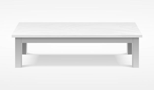 Современный белый стол, макет выставочного стола. мебель настольная пустая