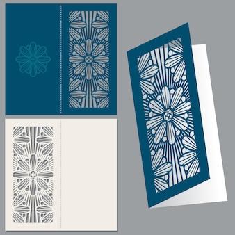 ヴィンテージ結婚式招待状のポストカード封筒