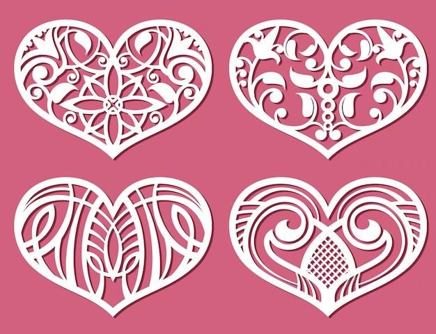 レーザー印刷ロマンチックなレーシックの結婚式の心