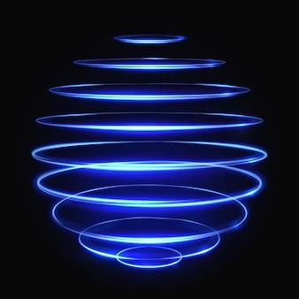 ベクトルライトグロー効果球効果